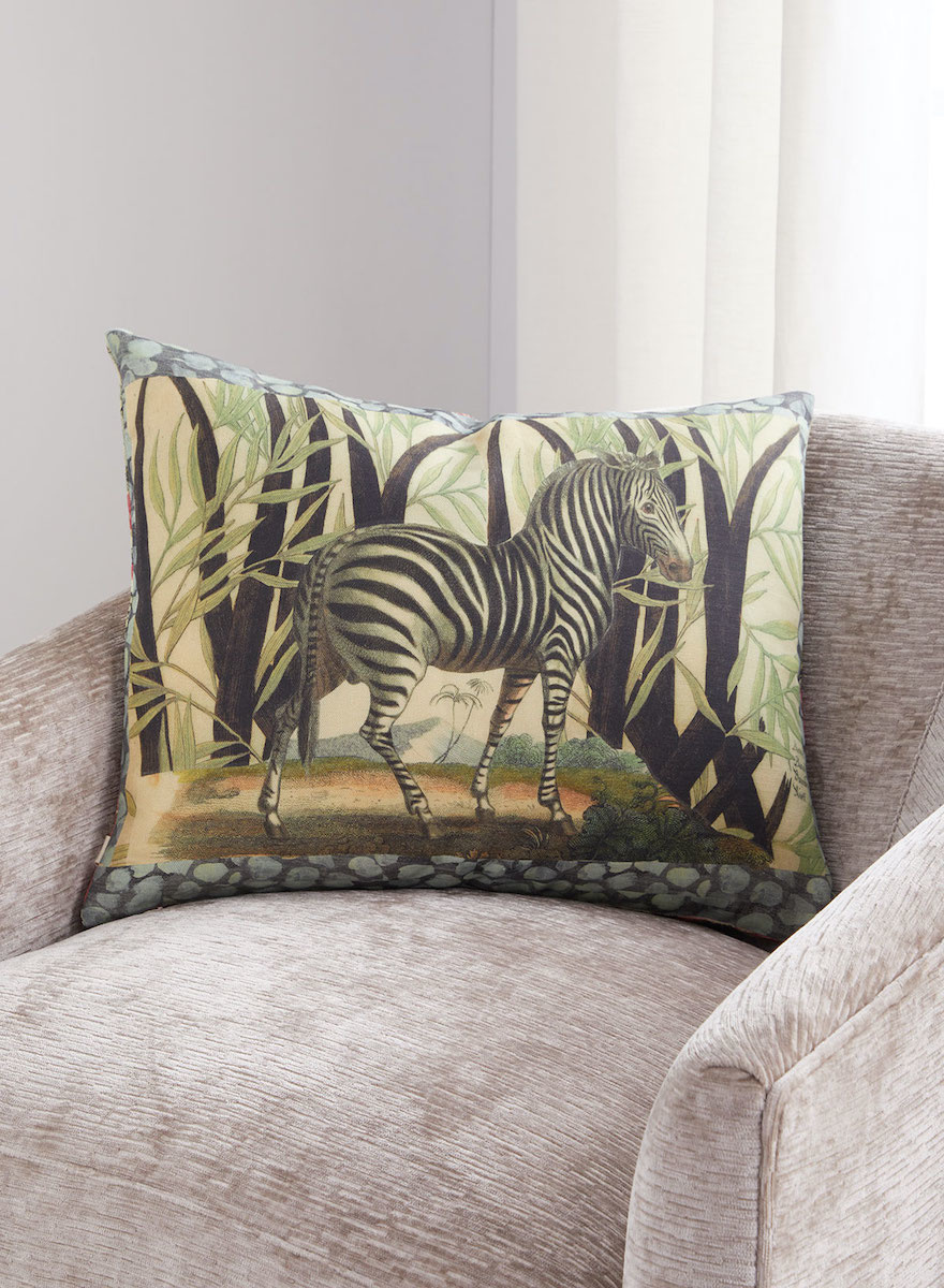 Zebras Sepia Pillow-2