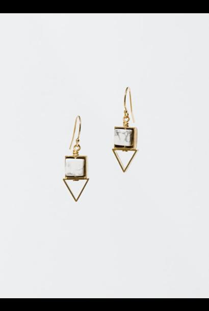 Pique Howlite Earrings