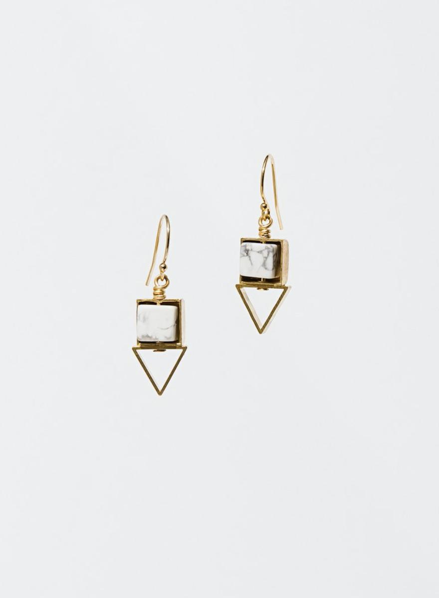 Pique Howlite Earrings-1