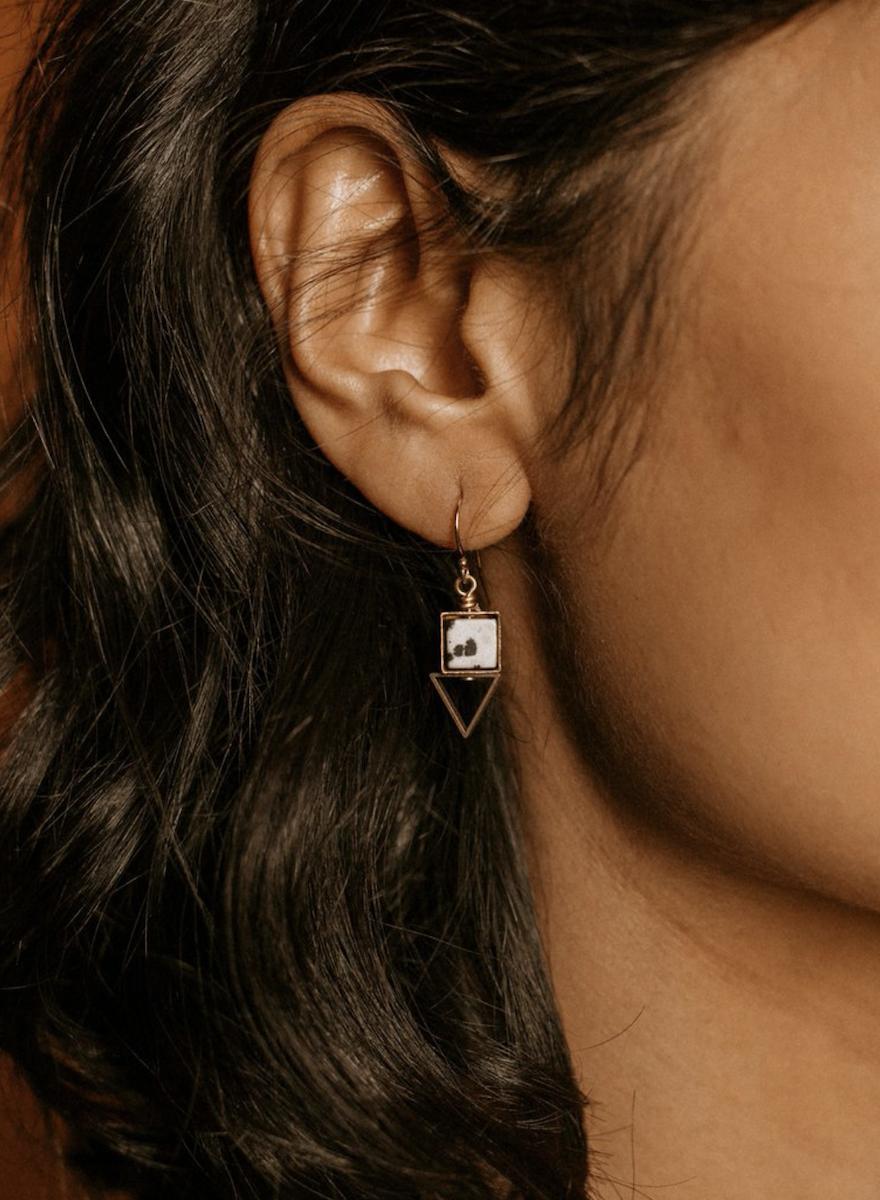 Pique Howlite Earrings-2