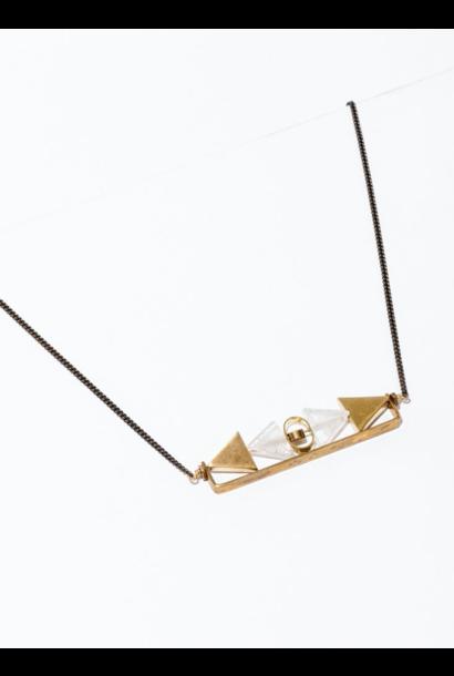 Aero Clear Quartz Necklace
