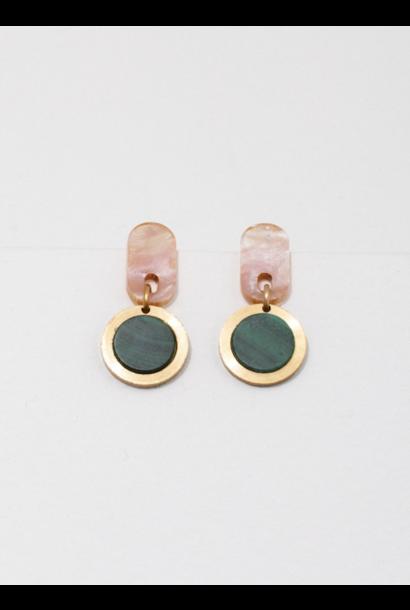 Ruth Pink Malachite Earrings