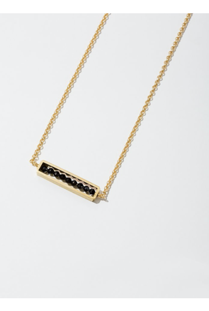 Abacus Black Spinel Necklace