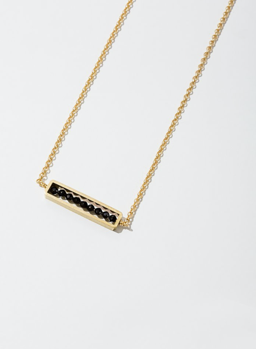 Abacus Black Spinel Necklace-1
