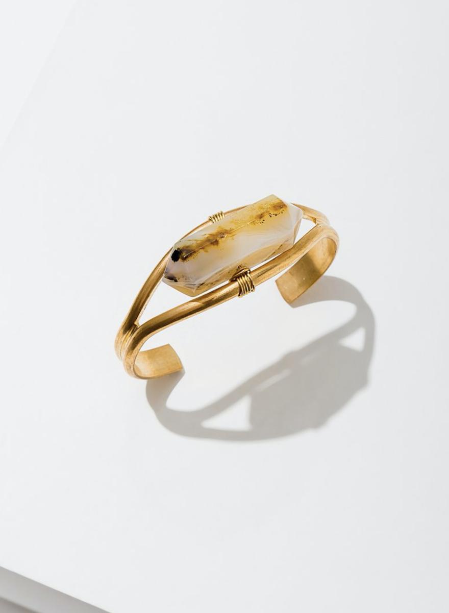Crystal Cuff Heihua Agate Bracelet-1