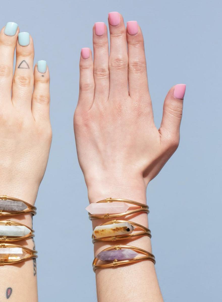 Crystal Cuff Heihua Agate Bracelet-2