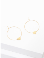 Larissa Loden Gold Heart Earrings