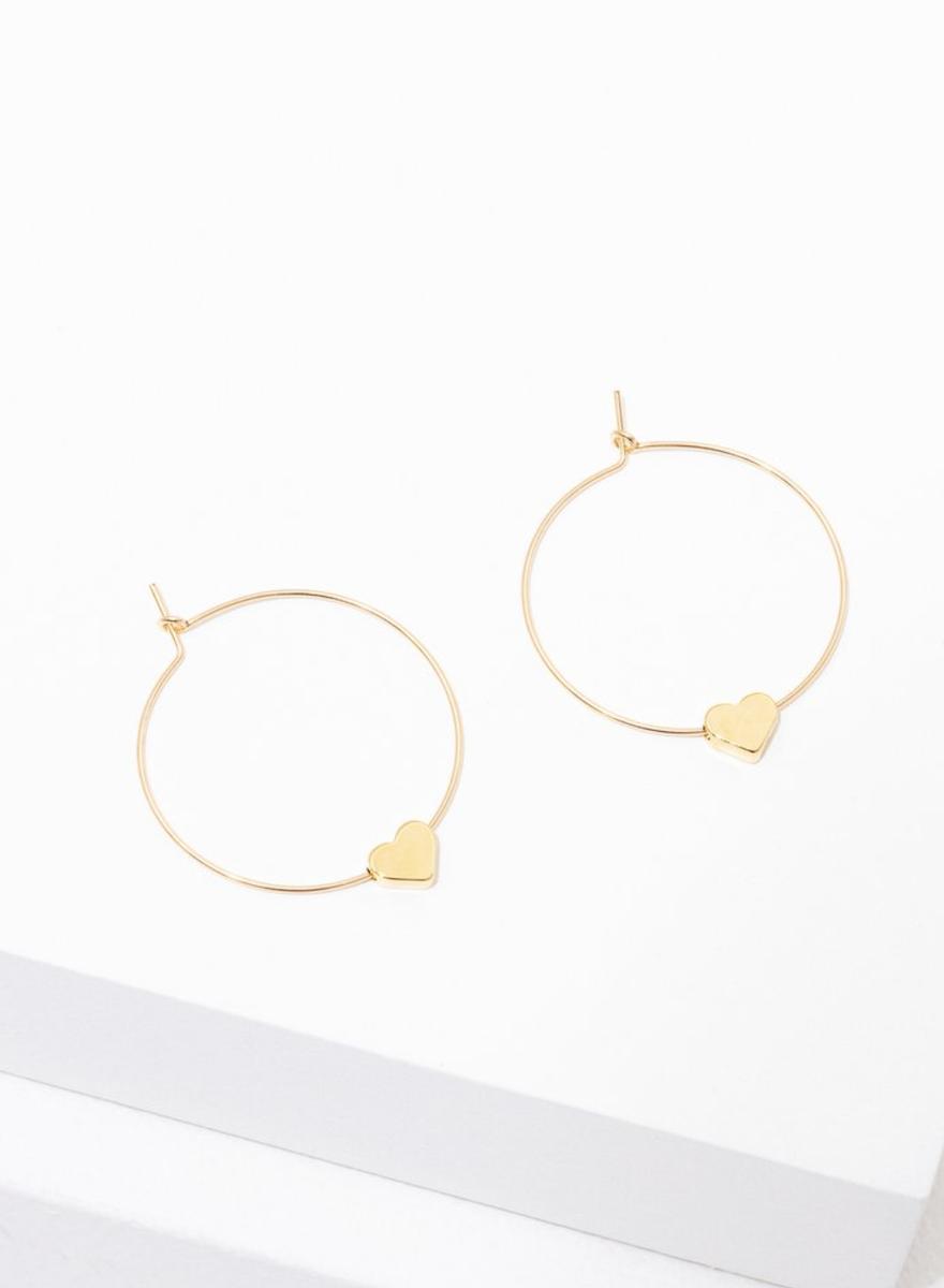 Gold Heart Earrings-1