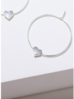 Larissa Loden Silver Heart Earrings
