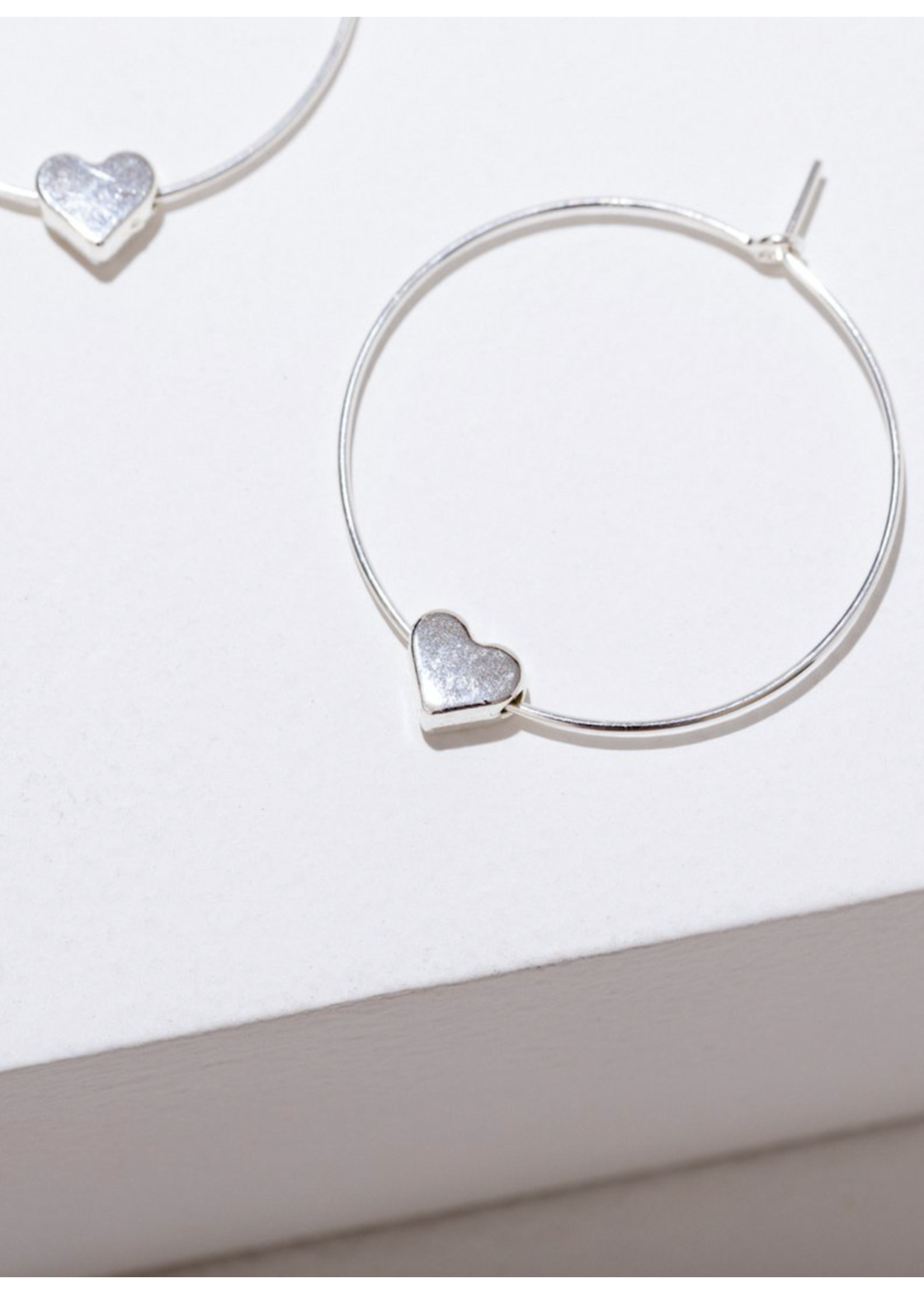 Larissa Loden Larissa Loden Silver Heart Earrings