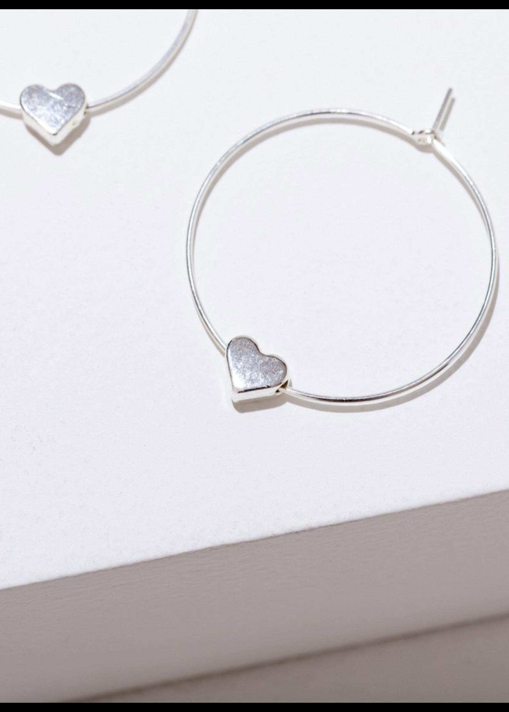 Larissa Loden Silver Heart Earrings