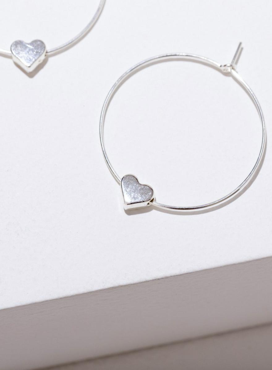 Silver Heart Earrings-1