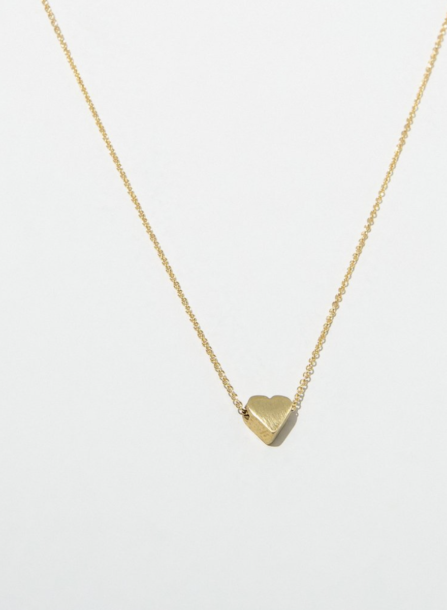 Gold Heart Necklace-1