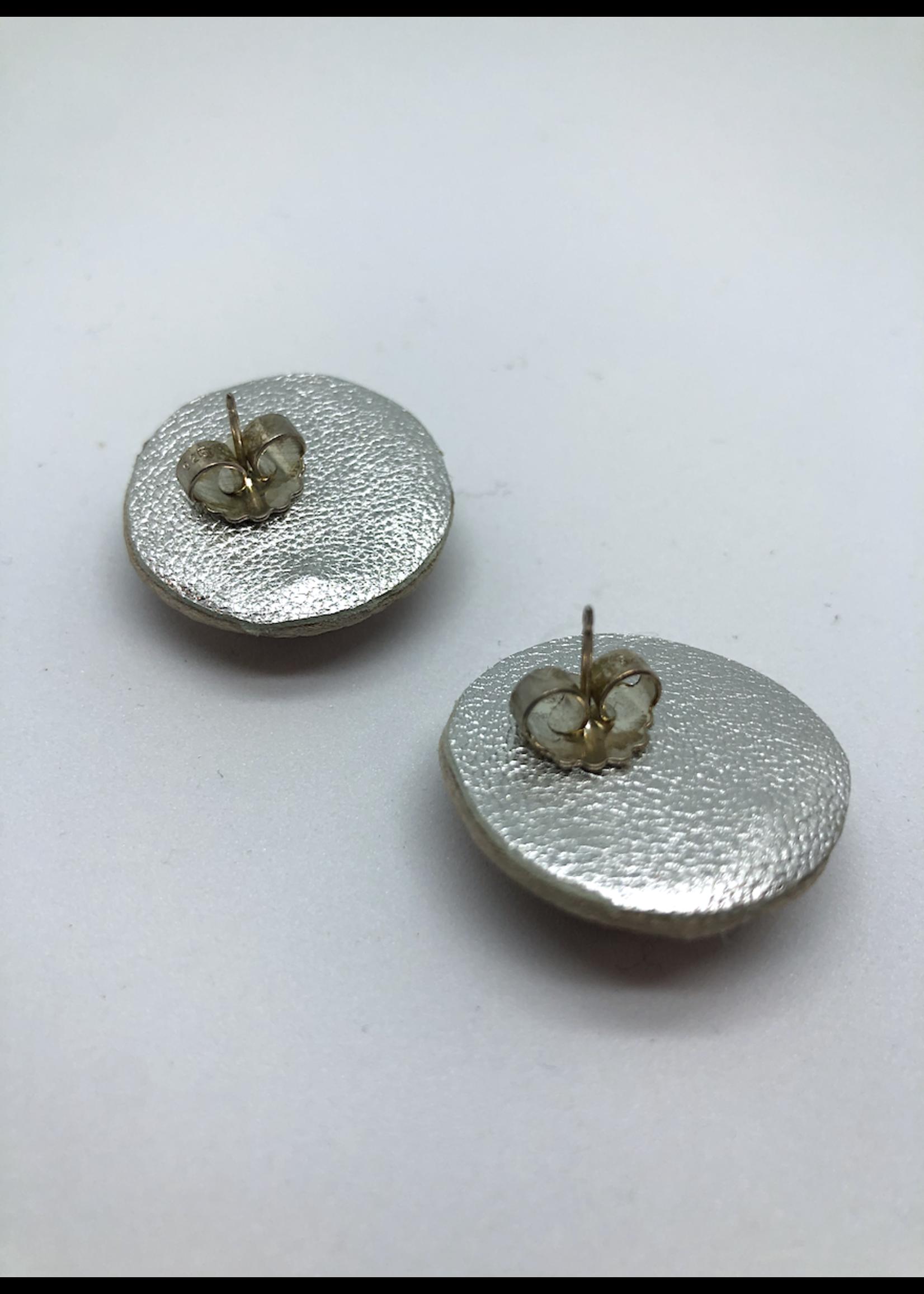 Robin Mollicone Large Stud Earrings (Pink Monochrome)