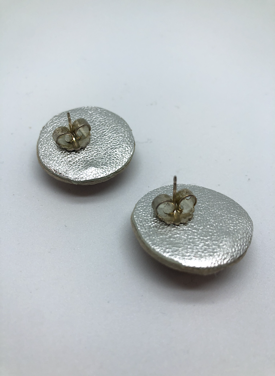 Large Stud Earrings (Pink Monochrome)-2