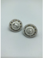 Robin Mollicone Small Stud Earrings (Howlite/White)