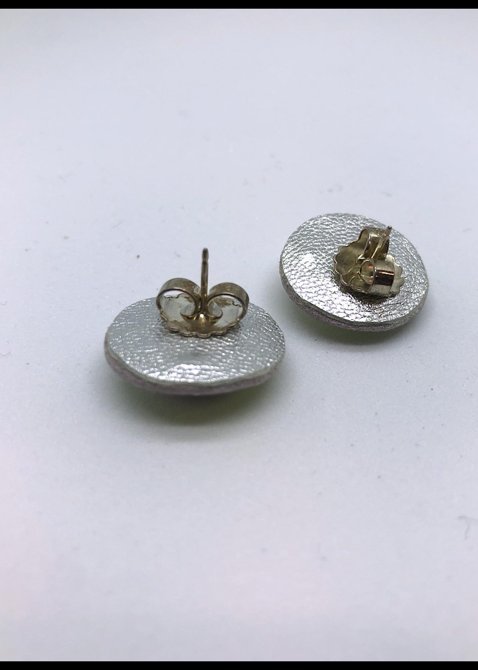 Robin Mollicone Small Stud Earrings (Rhodonite/Pink)