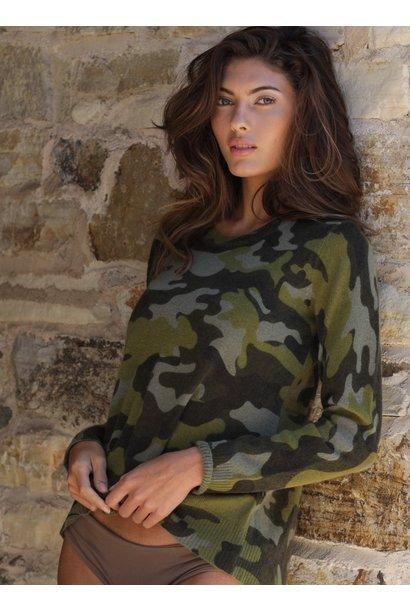 Kendra Camo Cashmere Sweater