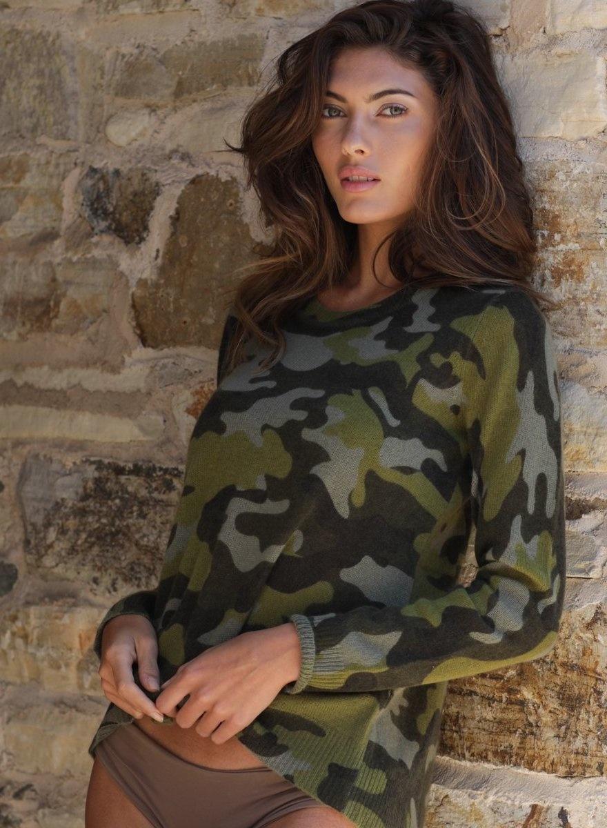 Kendra Camo Cashmere Sweater-1