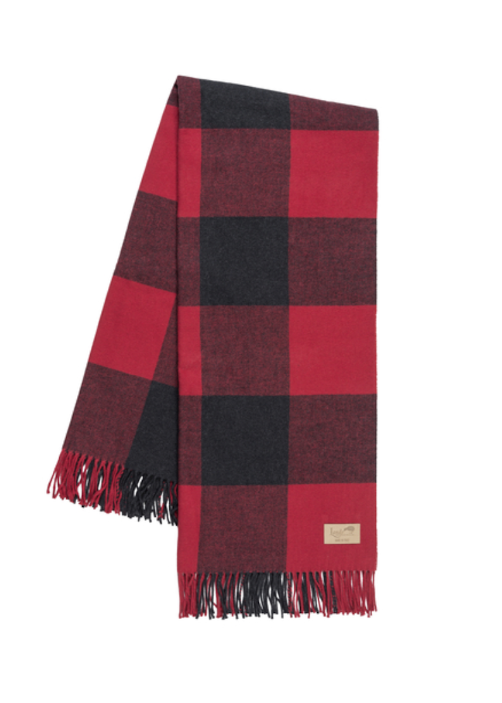 Lands Downunder Red & Graphite Buffalo Check Throw