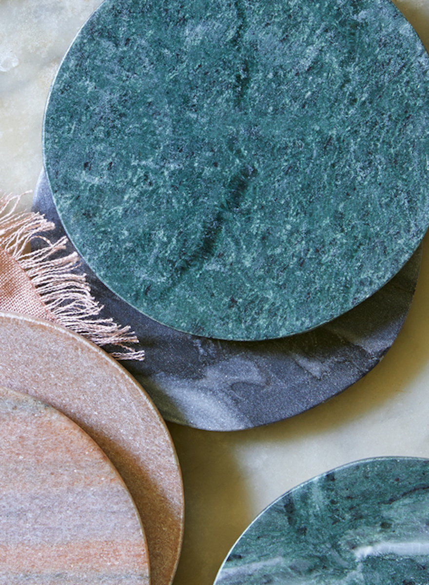 Green Marble Coasters-1