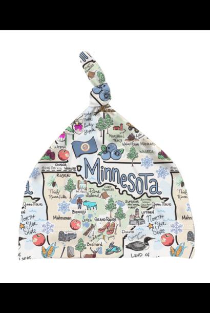Minnesota Map Baby Hat