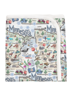 Minnesota Map Baby Blanket