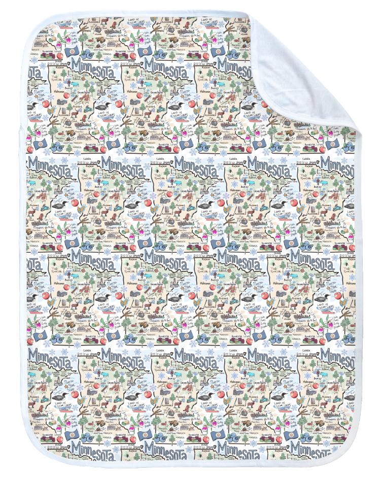 Minnesota Map Baby Blanket-2