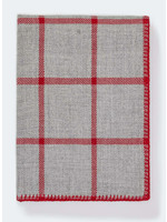 Alicia Adams Light Grey/Scarlett Graydon Throw