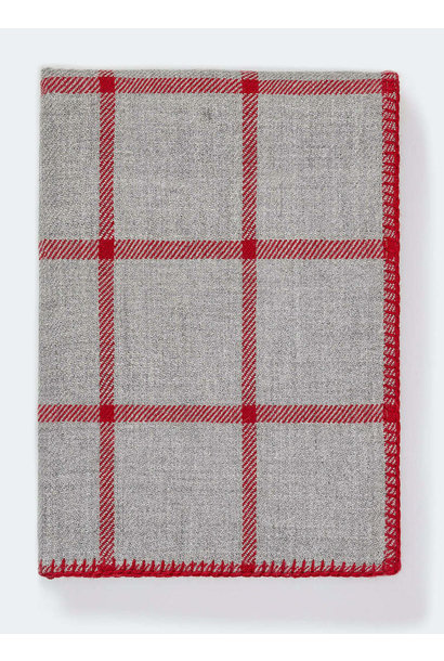 Light Grey/Scarlett Graydon Throw