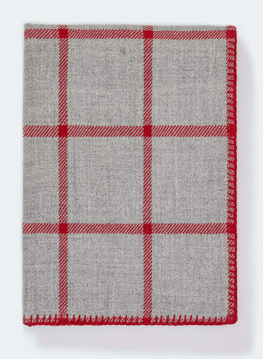 Light Grey/Scarlett Graydon Throw-1