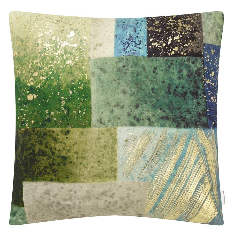 Parterre Geo Emerald Pillow-2