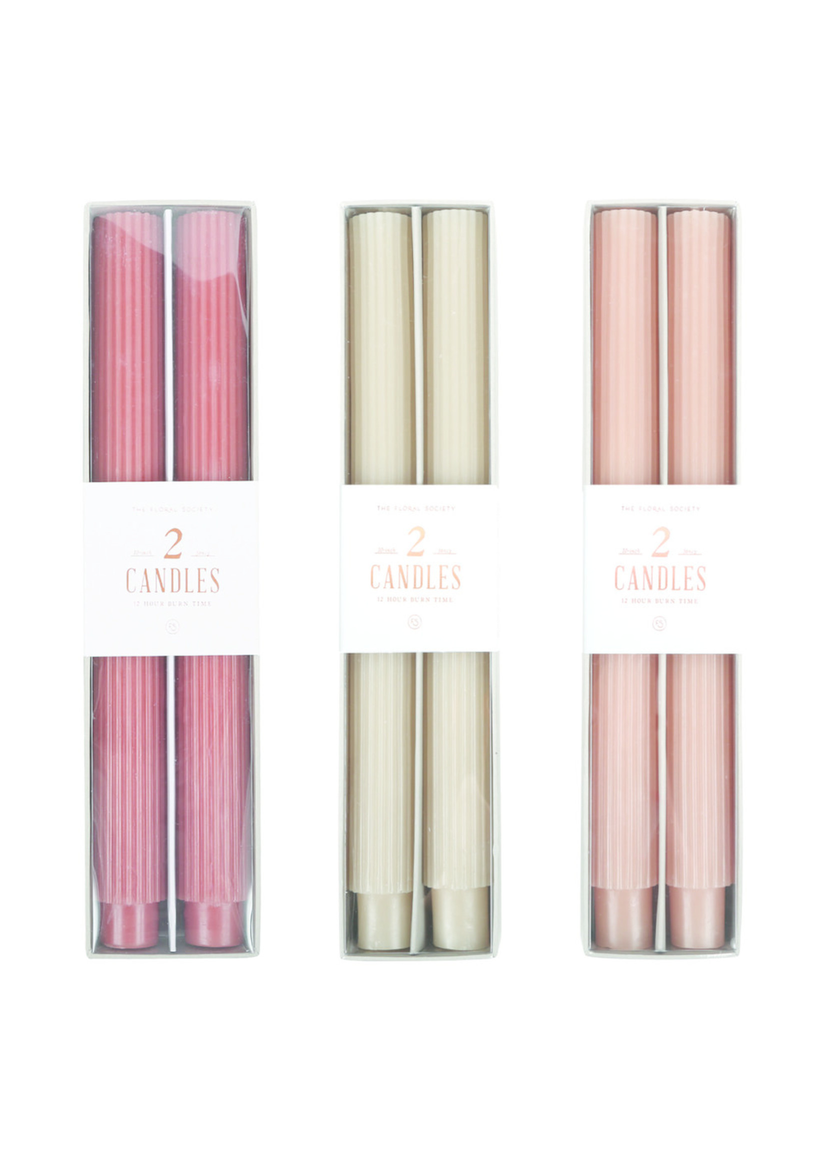 The Floral Society Fancy Taper Candles