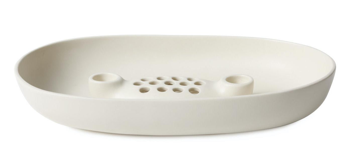 Ceramic Frog Bowl & Taper Holder-2