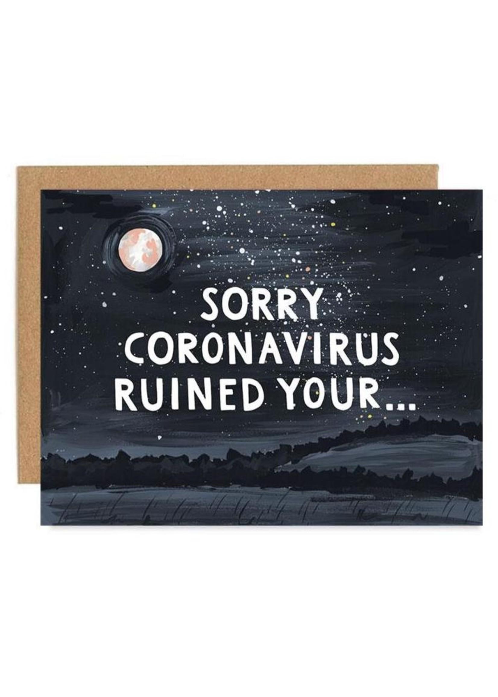 Sorry Coronavirus Card