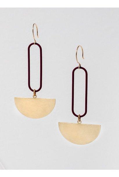 Eileen Maroon Earrings