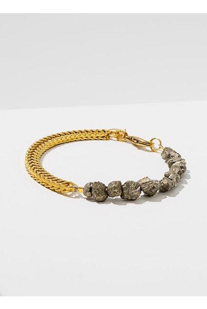Two Part Pyrite Bracelet