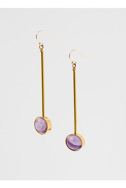 Aberrant Amethyst Earrings