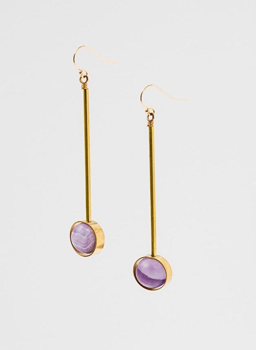 Aberrant Amethyst Earrings-1
