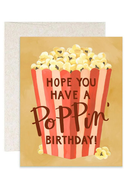 Popcorn Birthday Card