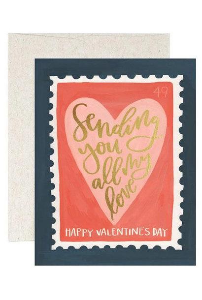 Stamp Valentine's Card