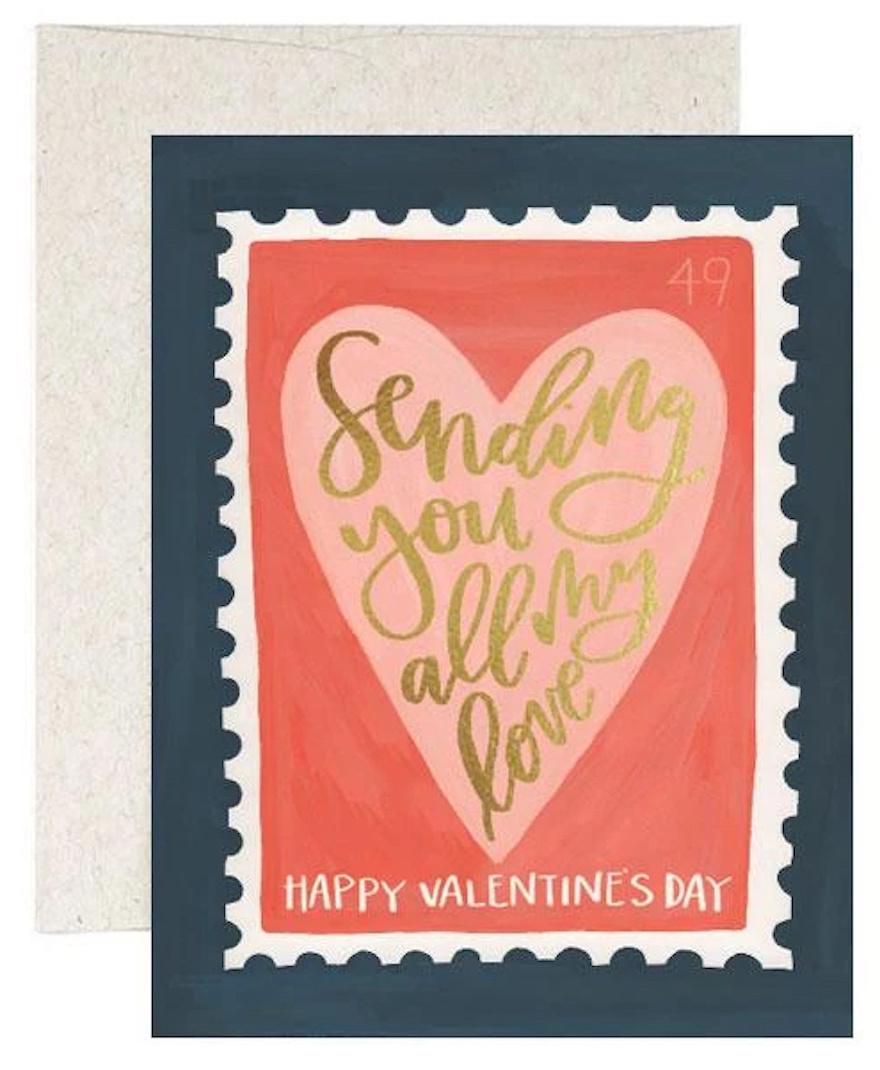 Stamp Valentine's Card-1