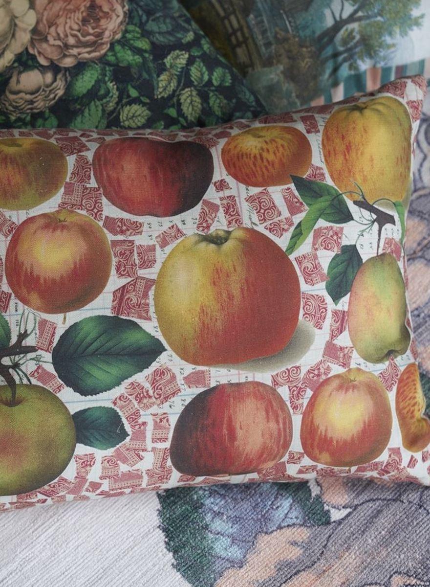 Apples Carmine Pillow-1