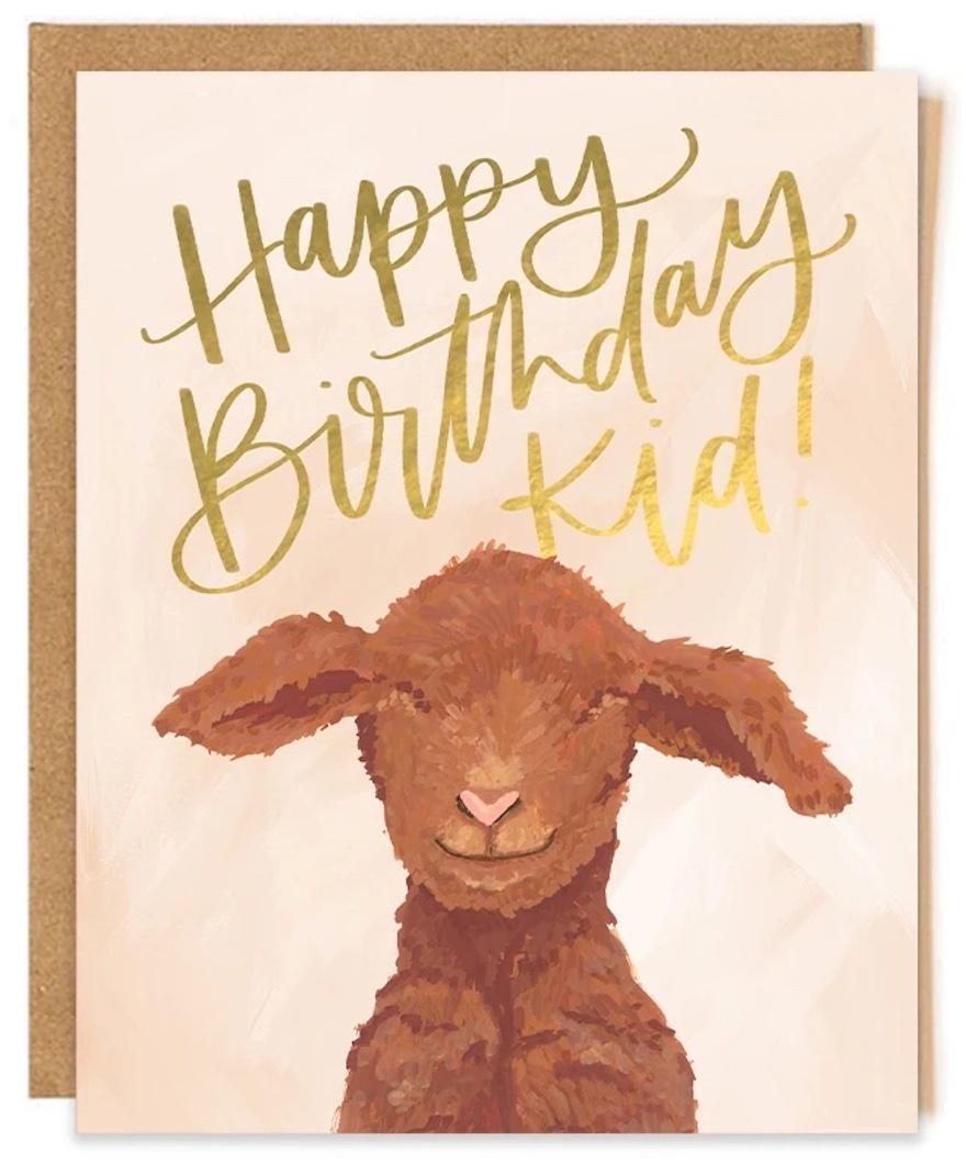 Goat Birthday Card-1