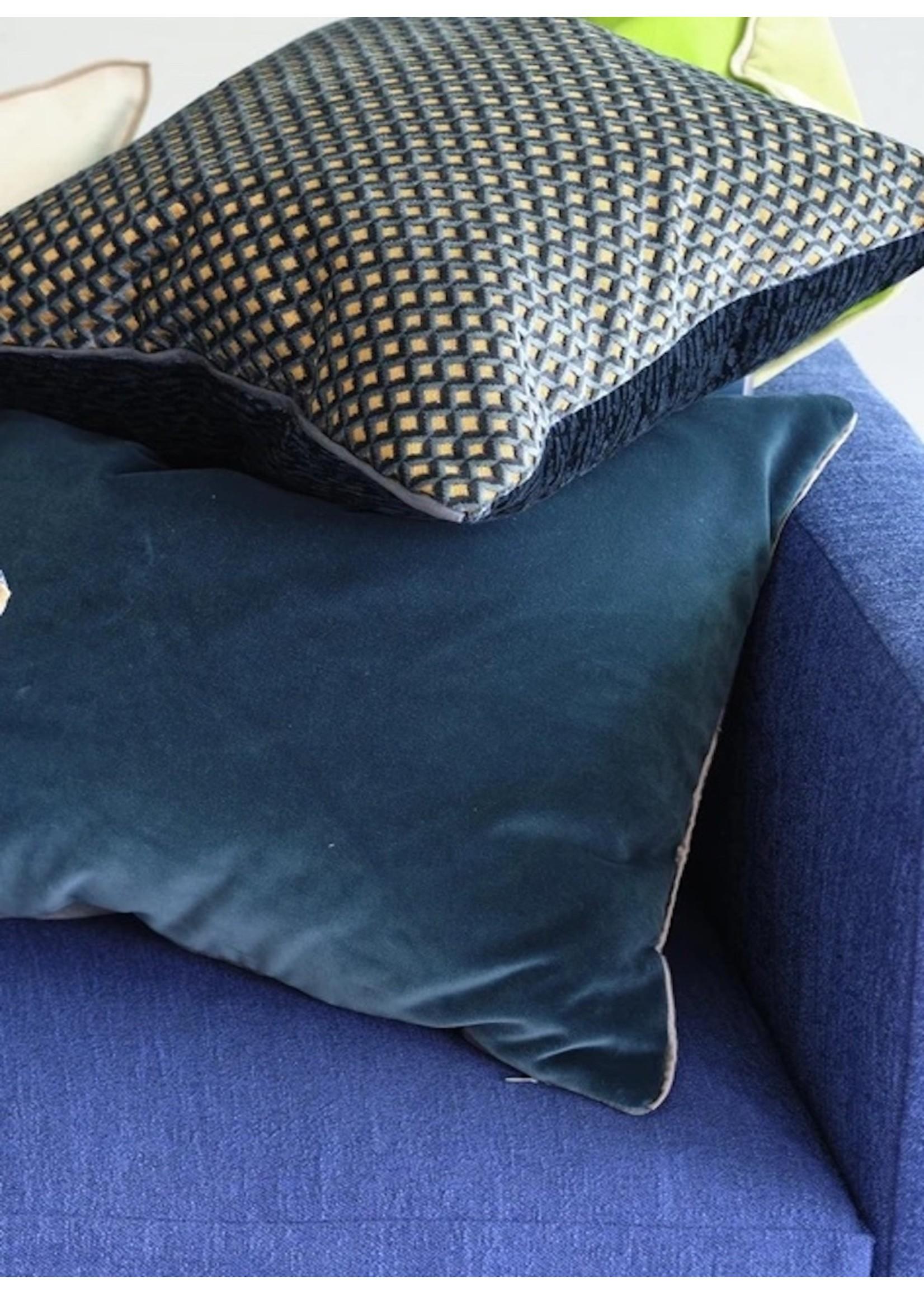 Designers Guild Cassia Prussian & Granite Pillow