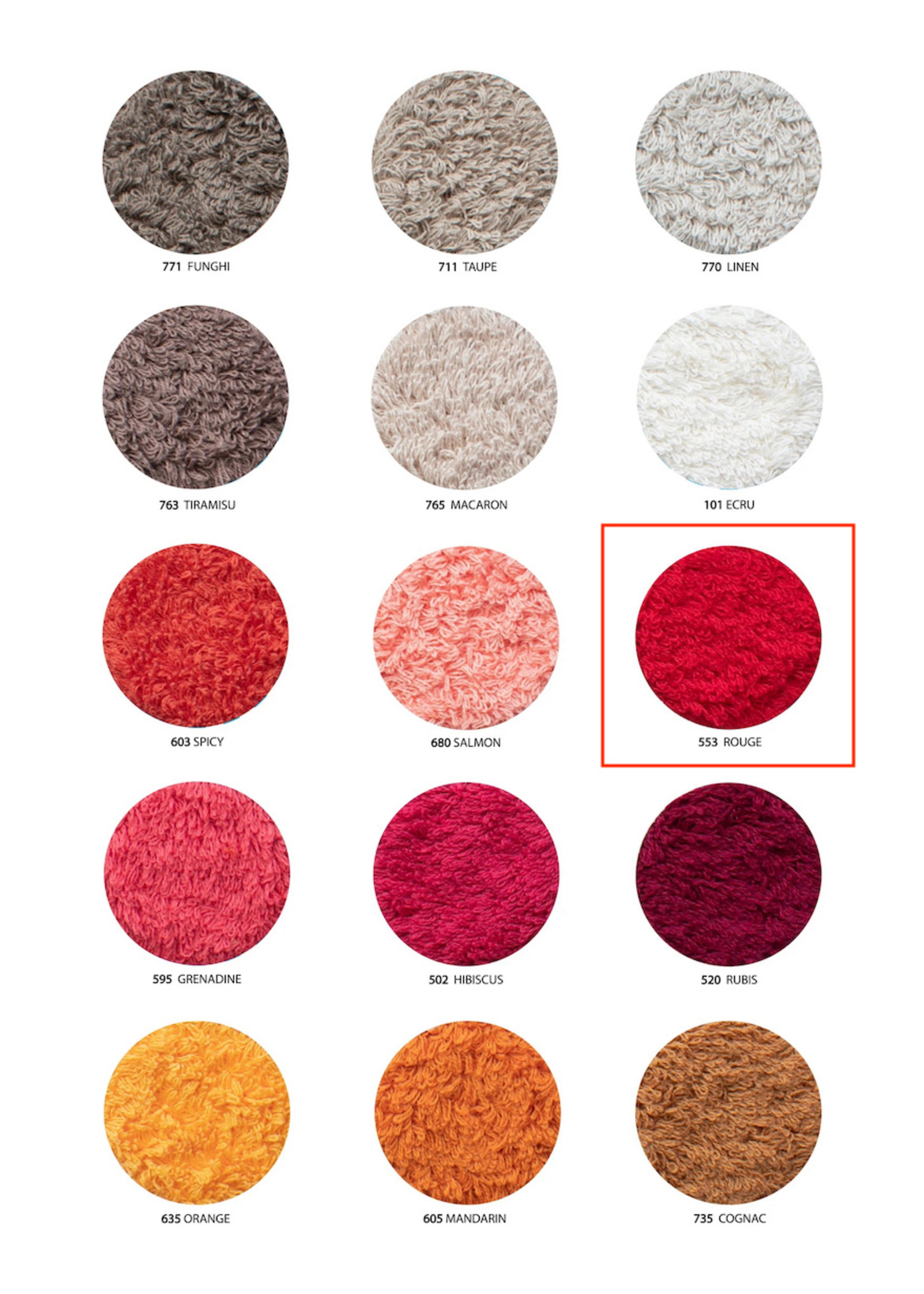 Abyss & Habidecor Super Pile Rouge Towels