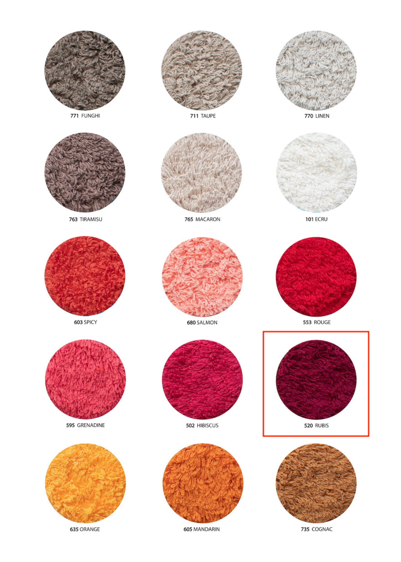 Abyss & Habidecor Super Pile Rubis Towels