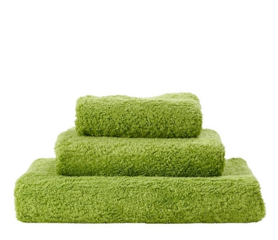 Super Pile Apple Green Towels-1