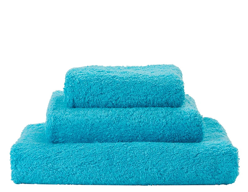 Super Pile Turquoise Towels-1