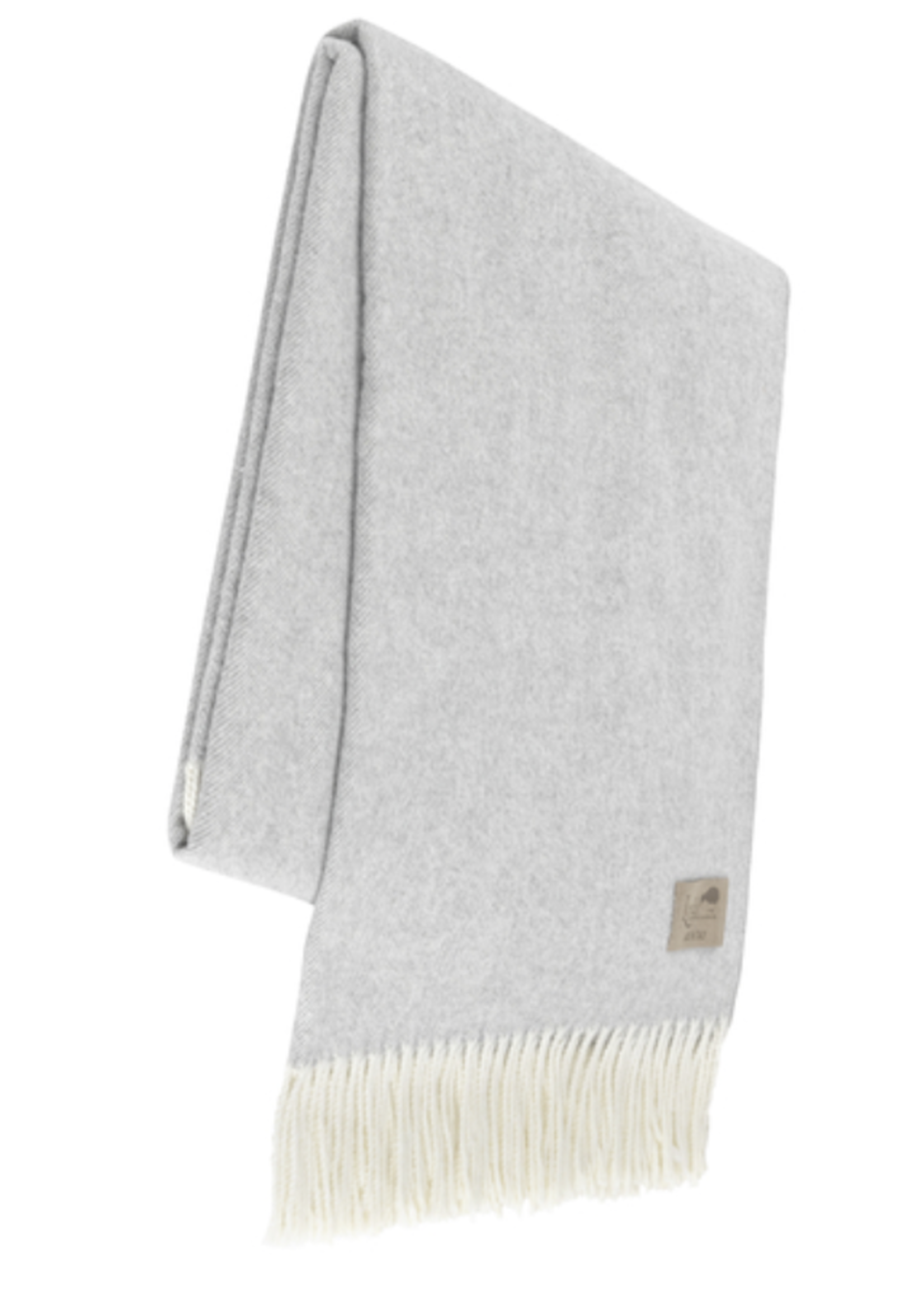 Lands Downunder Light Grey Herringbone Throw